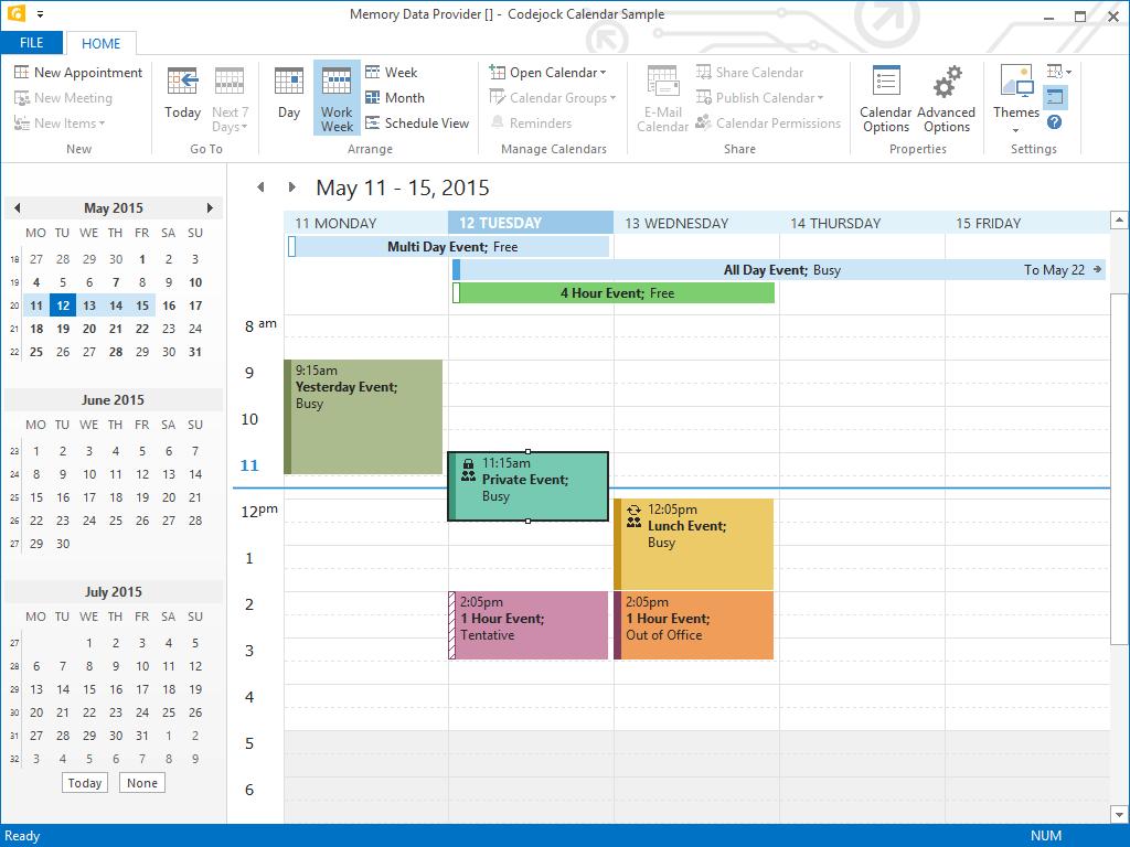 Calendar Overview : Version sneak peek codejock developer community